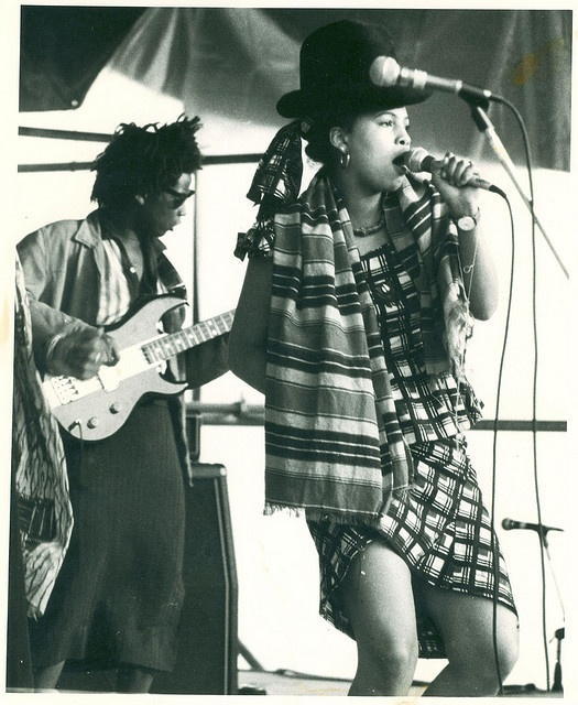 Neneh Cherry (Rip Rig + Panic, with Sean Oliver), Alexandra Palace 1983 : Communist Party Marx With Sparx People's Jubilee. From nick.hider's photostream.