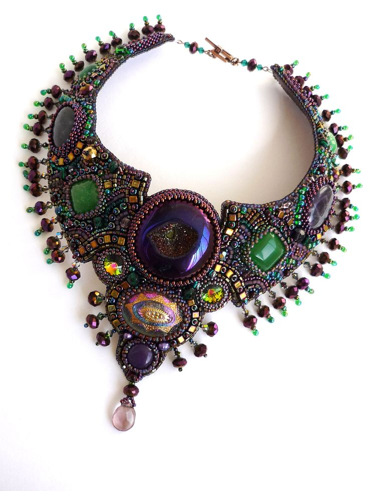 Bead Embroidery Jewelry | Amazing embroidered jewelry by Irina Chikineva | Beads Magic