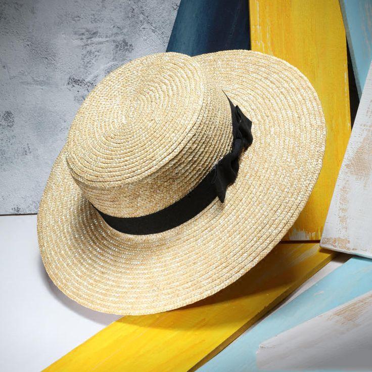 Women Summer Beach Straw Hats Flat Sun Hat Fedoras With Belt Men's Boater Hat Chapeu Masculino