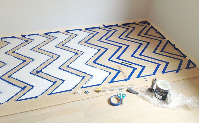 Gøyalt gulv - slik maler du mønster på gulvet