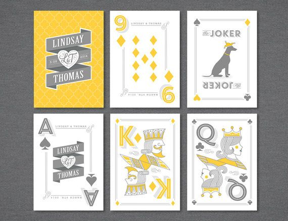 Custom Playing Cards Wedding Favor by LINandTOM on Etsy, $80.00