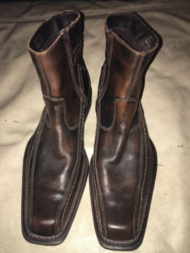 Very nice men's brown ankle boot made in italy size 42aldo sizes run a bit small see picture for measurements aldo size charts states us size 9 however would fit up to size 10