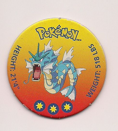 Pokemon Gyarados Battle Disc Pog
