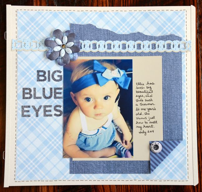 Creative Memories Denim Blues Scrapbooking Collection Layout Idea…