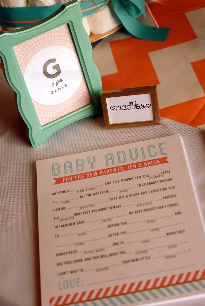 Coral and Aqua Baby Shower Party Ideas | Photo 1 of 33 | Catch My Party