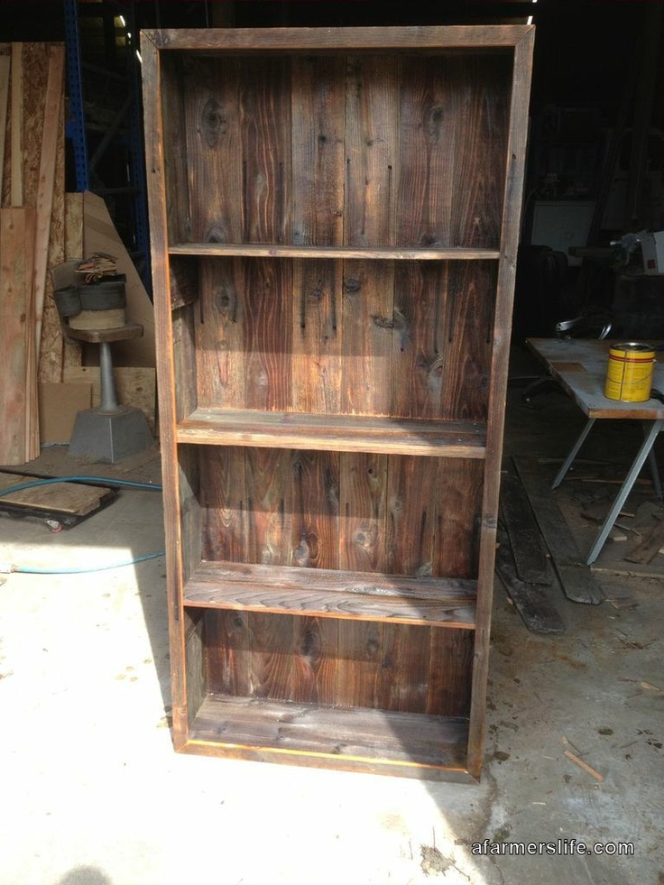 Upcycled An Old Fence Into A Bookcase Fence Wood