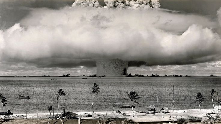 Tiny Marshall Islands Taking On 3 World Nuclear Powers In Court: A U.S. nuclear test at Bikini Atoll, Marshall Islands, in July 1946.