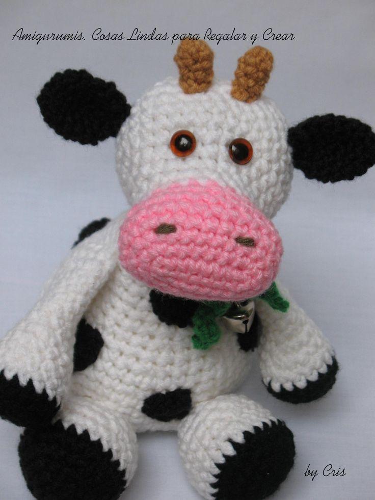 Tutorial Vaca Amigurumi Cow : Margarita ... la vaca Amigurumis. Cosas Lindas para ...