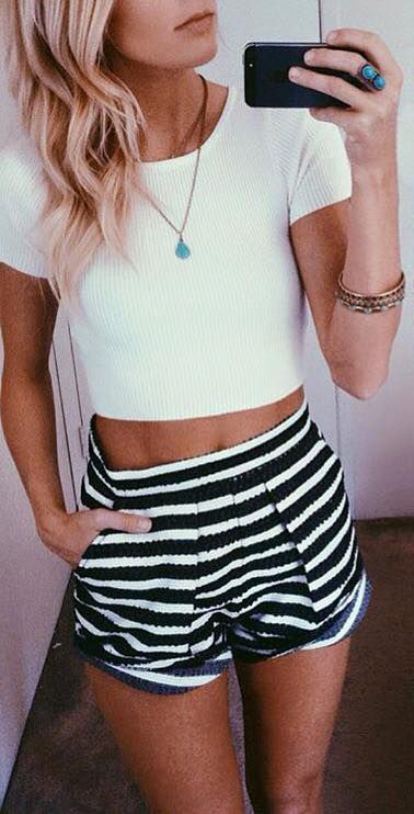 ivory knit crop top