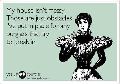 Messy house: Obstacle Course