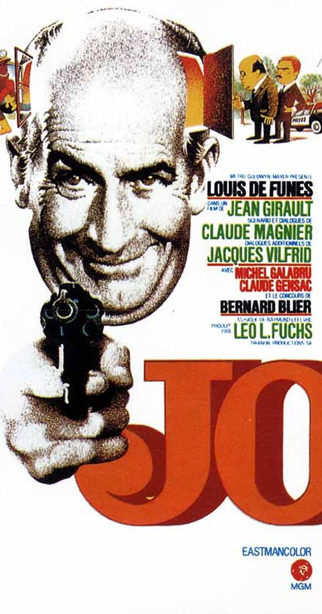 Directed by Jean Girault.  With Louis de Funès, Claude Gensac, Michel Galabru, Bernard Blier. Antoine Brisebard, a famous comedy playwright, is struggling with financial difficulties and is preparing to sell his country villa to an English couple. What no one knows, however, is that Brisebard is actually a victim of blackmail since his wife Sylvie, a famous actress, is the daughter of a notorious robber-murderer. His extortionist is a malevolent criminal only known as Jo, who visits him ...