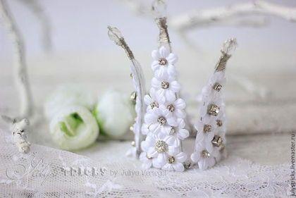 Свадебные украшения ручной работы. Ярмарка Мастеров - ручная работа. Купить Свадебная корона из цветов. Цветочная корона. Белая корона.. Handmade.
