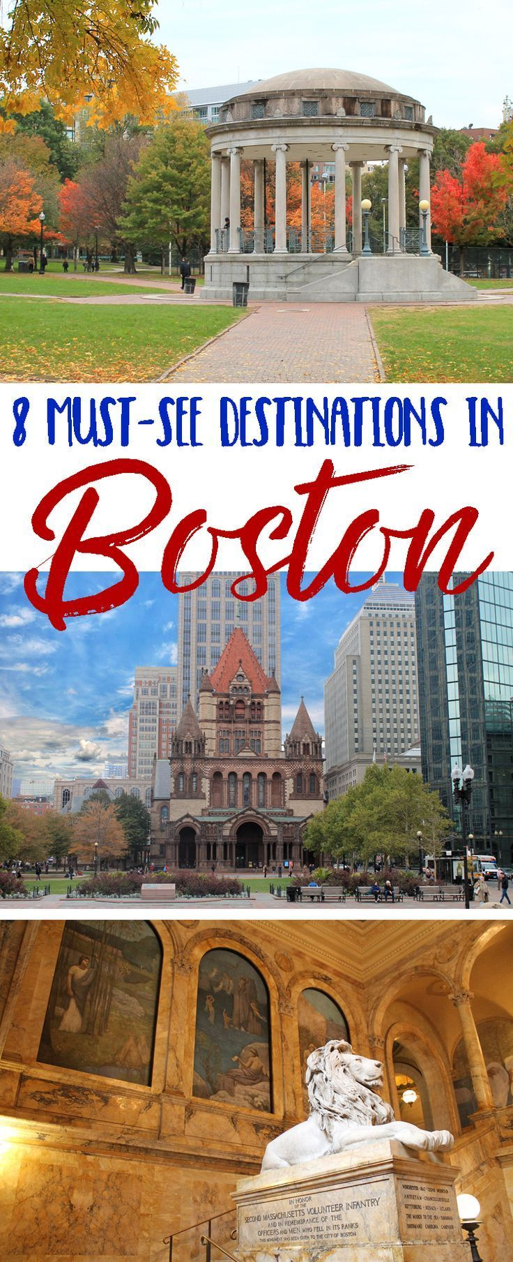 Travel tips and must-see destinations for planning a trip to Boston Massachusetts. This looks like an amazing vacation!