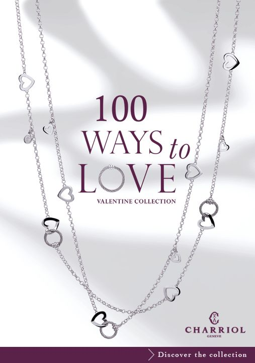 """New jewelry collections: """"100 Ways to Love """" and """" Just Once"""" – Charriol - Official Blog- Swiss Luxury Watches and Cable Jewelry"""