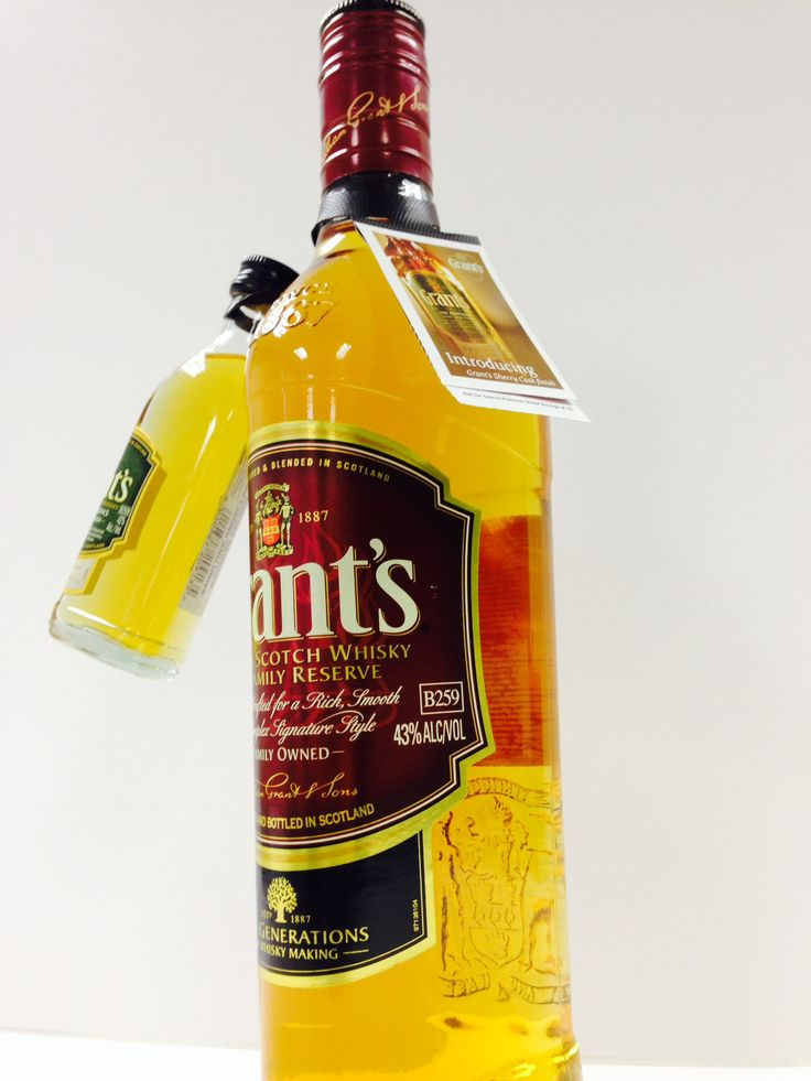 Our ElastiTote® being used by Grant's Whiskey to showcase a new product variant.