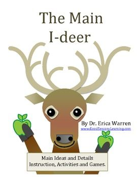 Main Ideas and Supporting Details: The Main I-Deer - Instruction, Graphic Organizers, and Games $
