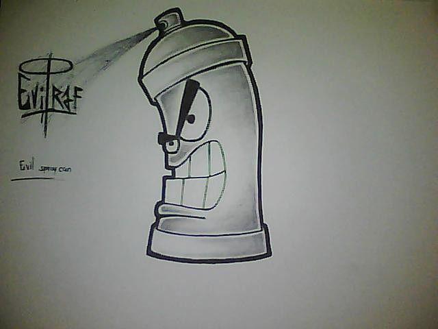graffiti spray can drawing easy | Easy graffiti drawings ...