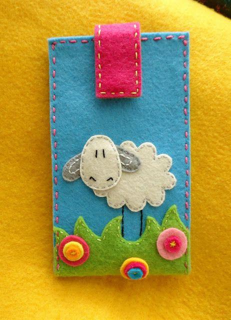 Ideias giríssimas de ganchos, capas de telemóvel...Cute phone case