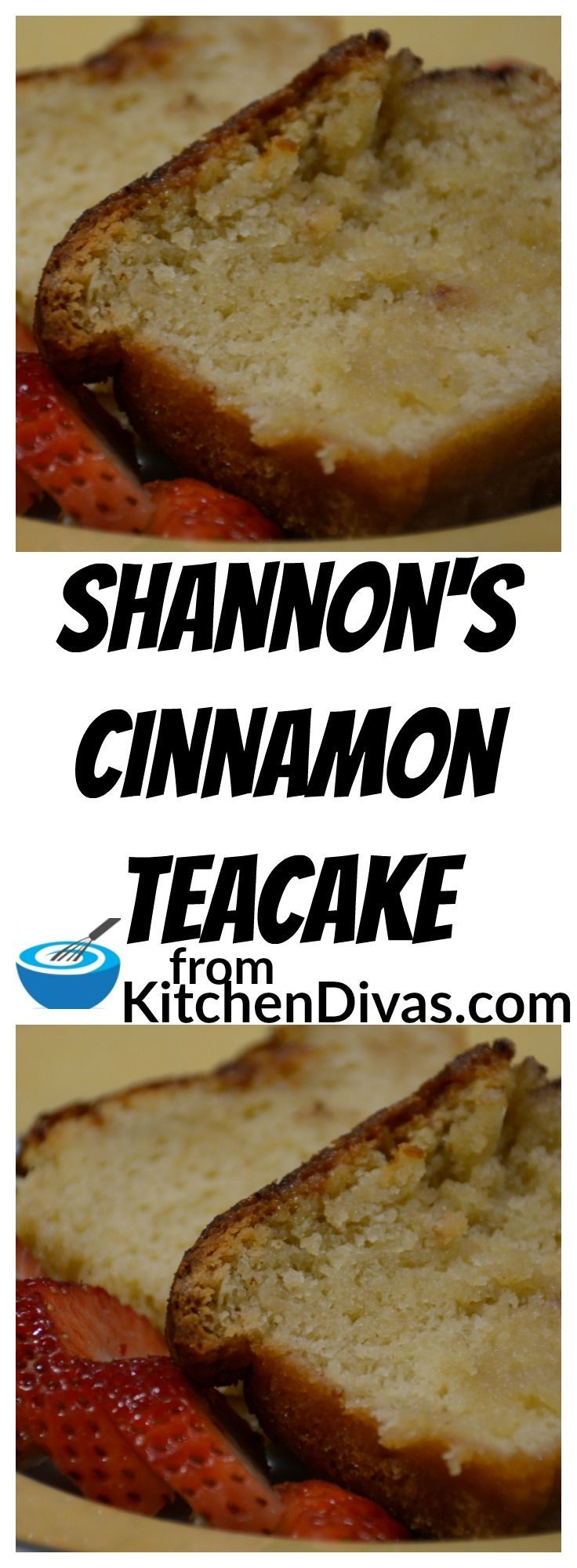This simple cinnamon tea cake is a wonderfully light, fluffy and sweet treat! Perfect to enjoy with some butter and a cup of tea or coffee. #teacake recipe #dessert