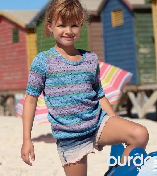 Летний пуловер для девочки