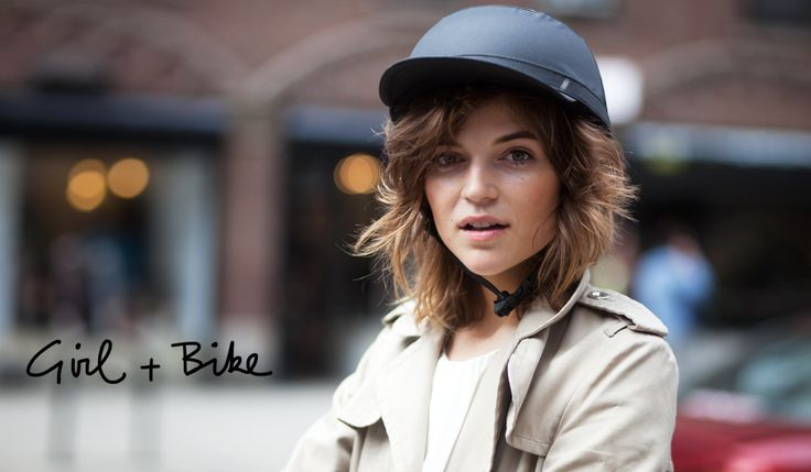 I love these bike helmets by Yakkay...now if they were only in my budget :-( photo by Garance Doré