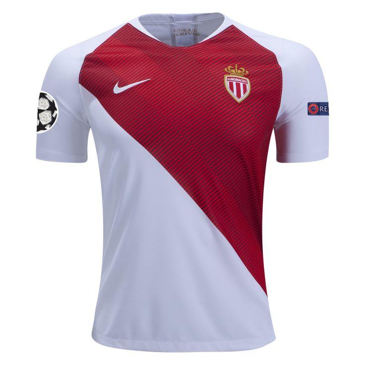 Nike Monaco Home Champions League Jersey 18 19-s  16c4c79ce22e3