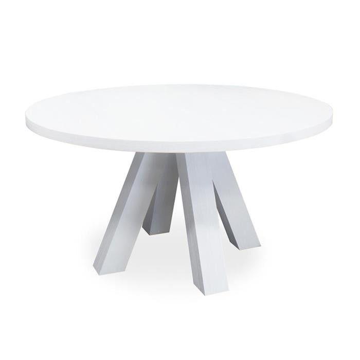 Eleonora Ronde Eettafel 'Stockholm' 150 cm, kleur wit