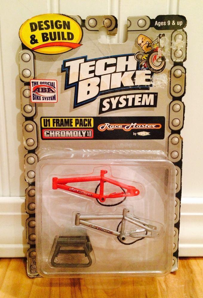 Rare Tech Deck BMX Dirt Finger Bike System Chromoly U1 Frame Pack Race Master #SmithBike