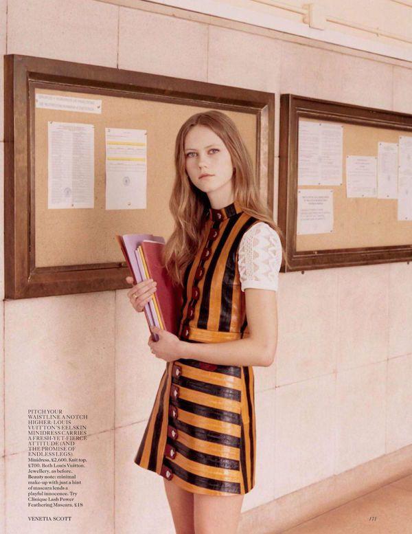 Subtle seventies style in Vogue by Venetia Scott