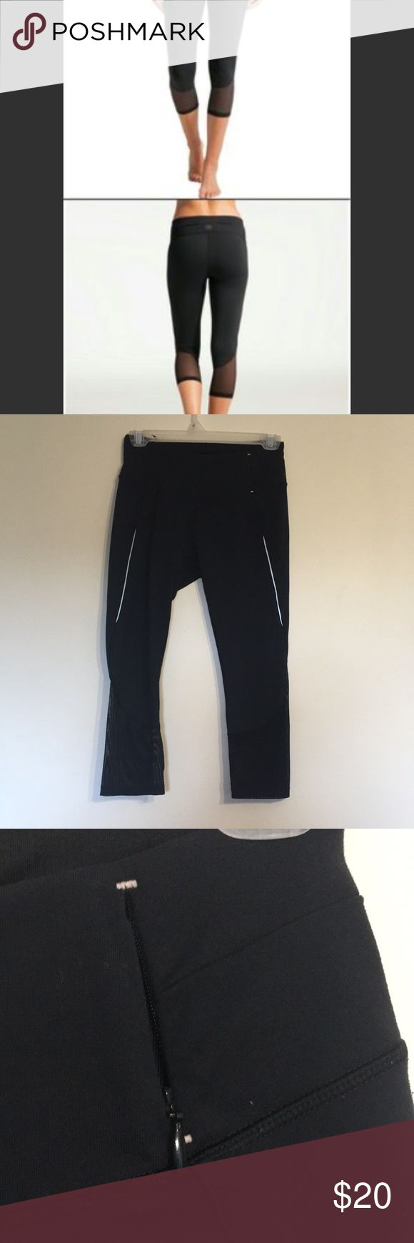 Calls by Carrie underwood Capri leggings size S Calls by Carrie underwood Capri leggings size S, mesh at the bottom of the legs, small zipper pocket on the waist band. Small hole on the knee and some pilling in the crotch area (smoke free, pet friendly home) CALIA by Carrie Underwood Pants Leggings
