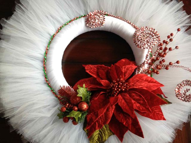 tuile wreaths | and this tulle wreath from ducky duck diaper cakes is also different ...