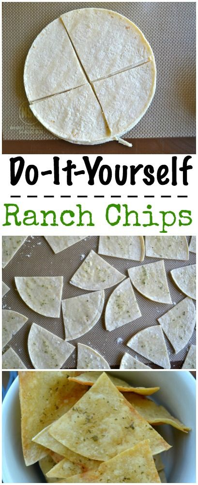 DIY Ranch Chips.  Baked in the Oven for 15 minutes.