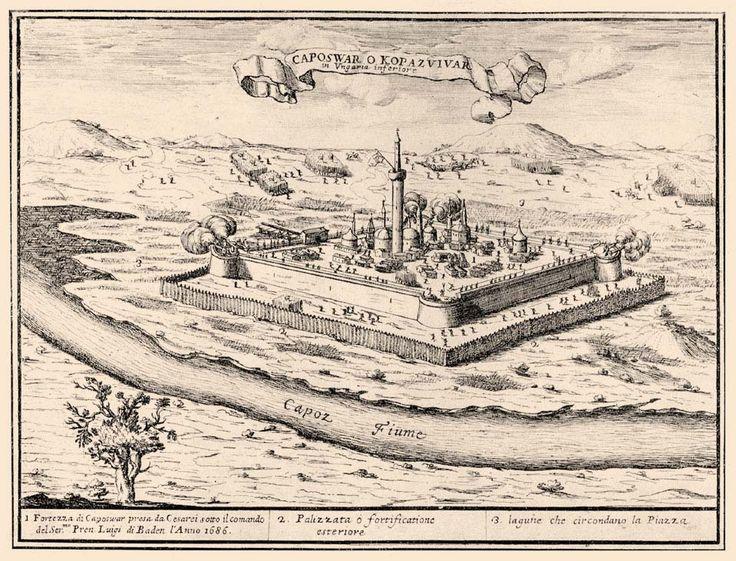 A fortaleza de Kaposvár em 1686 - Fortaleza de Kaposvár