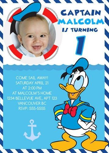 Download Donald Duck Birthday Party Invitation Ideas