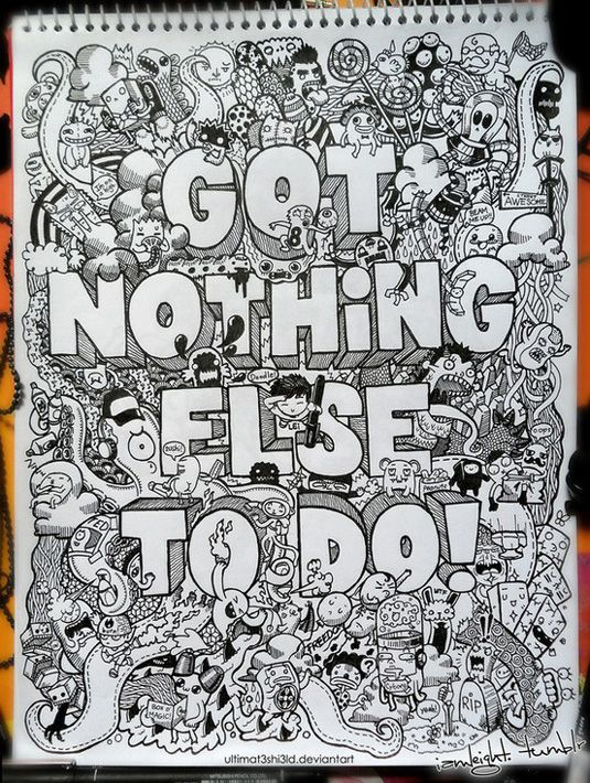 50 great examples of doodle art                                                                                                                                                                                 More