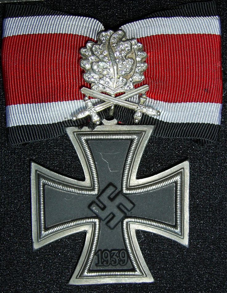 Nazi Germany's highest decoration: the Knight's Cross of the Iron Cross with Oak Leaves, Swords and Diamonds, 1939-45.