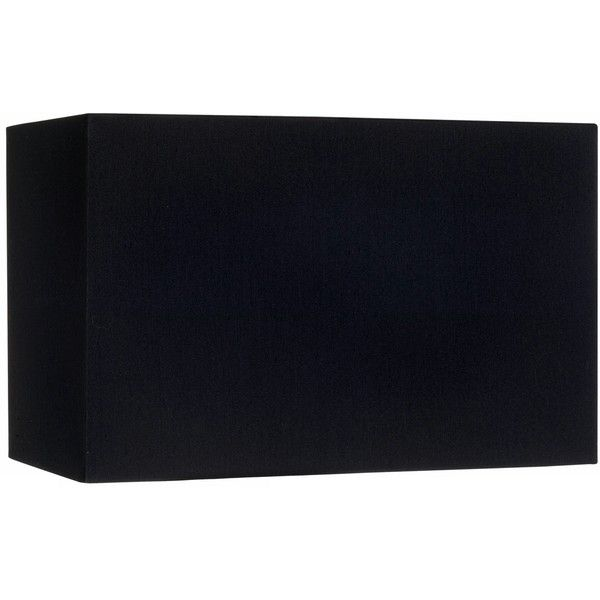 Black Rectangular Hardback Lamp Shade 8/16x8/16x10 (Spider) ($50) ❤ liked on Polyvore featuring home, lighting, black, rectangular lamp shade, black rectangle lamp shade, rectangle lamp shade, black rectangular lamp shade and rectangle lamp
