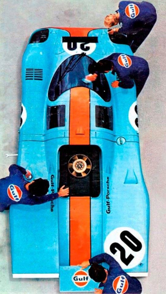 CA 1969-1971 Porsche 917K Gulf-Werbung