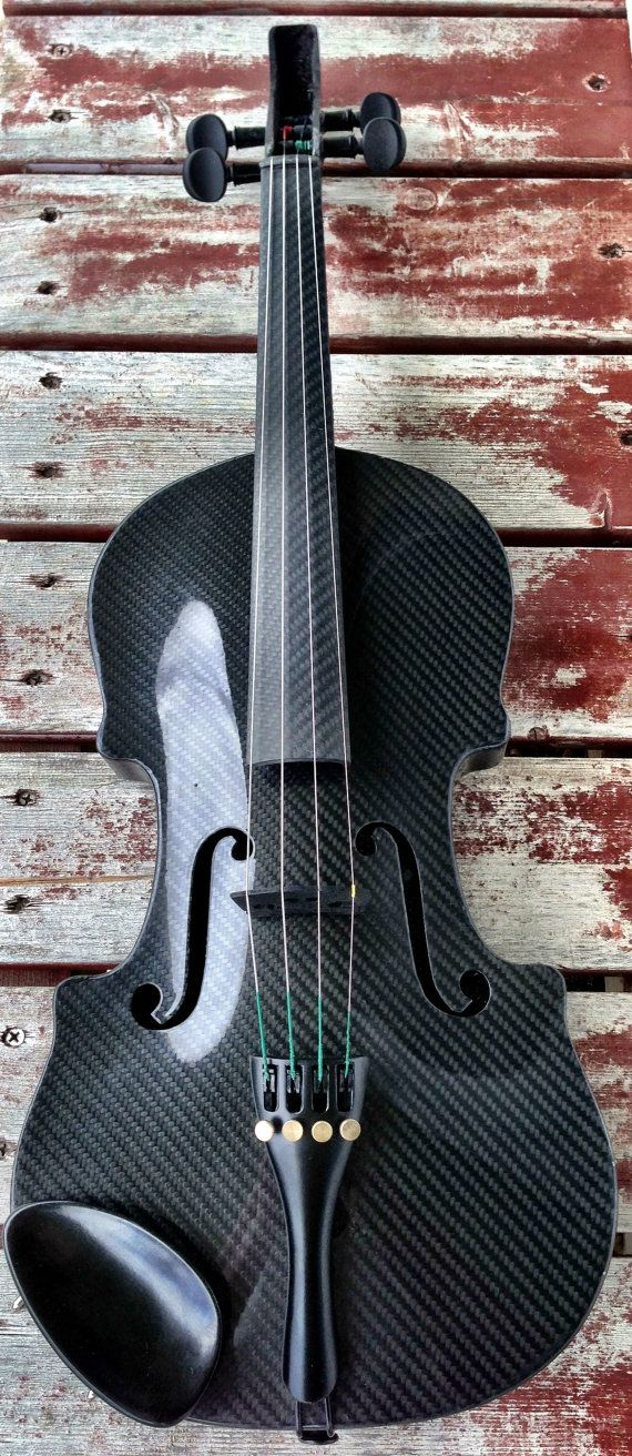 Handcrafted Carbon Fiber Violin by KielyCarbon on Etsy.