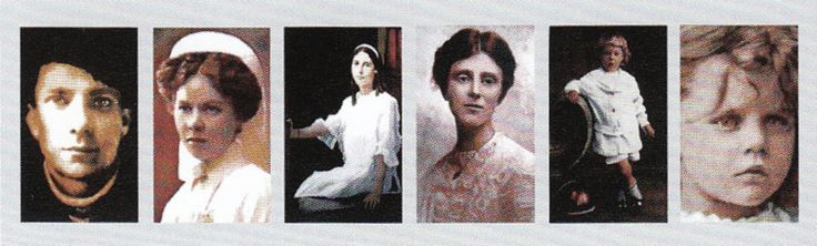 Six alleged ghosts of the Crescent Hotel: Michael, Theodora, The Lady in White, The Girl in the Mist, The Little Girl, and the Little Boy. The Crescent Hotel in Eureka Springs, Arkansas, (1937-1940) also served as a cancer hospital.  It is rumored to be one of the most haunted places in the world.  The most haunted rooms are: Room 419 (Theodora's Room), Room 424 and Room 218.  For more on the haunted Crescent Hotel, see Chapter 4 of Dixie Spirits.
