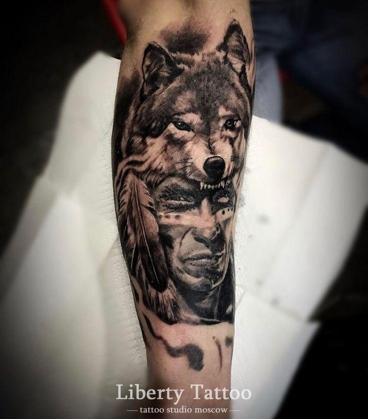 Значение тату волк. Фото и эскизы татуировки волк салона Либерти