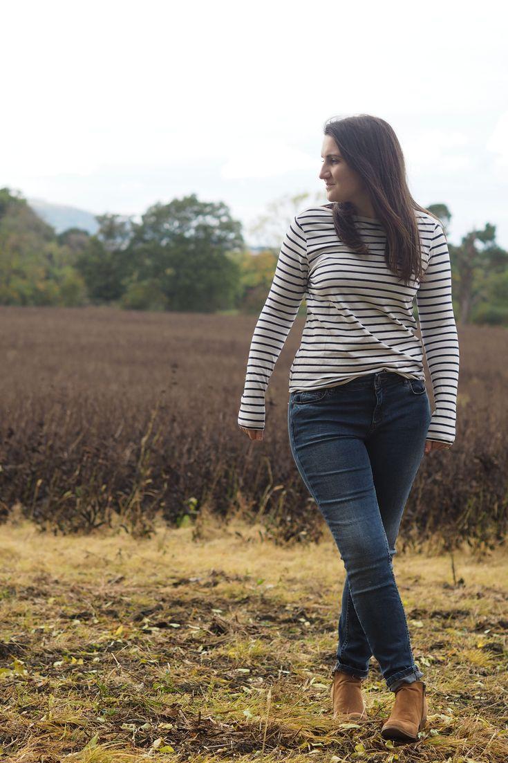 Breton stripes and jeans  #fallfashion #breton