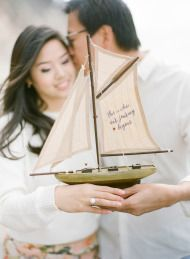 Write a message on a model boat - so cute!