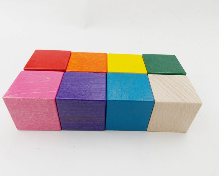 Wooden rainbow blocks -8 pieces, Baby Blocks ,Game blocks,Baby Shower Games,Wood Block Puzzle,Painted Wooden Cubes,baby gift ,Christmas gift by RainbowHappyWoodToy on Etsy