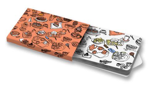 Linda Retterová - Obložený stůl  #ChewingGums #Žvýkačky #ilustration #feast #table #food