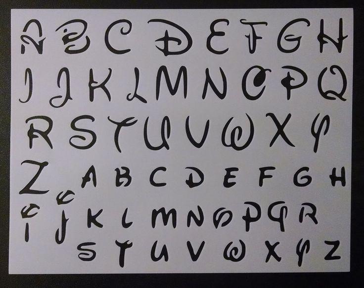 "Disney Alphabet Letters 1.2"" Font 11"" x 8.5"" Custom Stencil FAST FREE SHIPPING • $11.62"