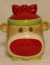 Sock Monkey Cookie Jar