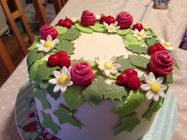 Finally finished my Christmas cake.