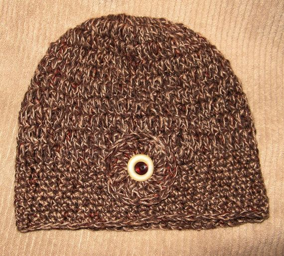 Hand Crocheted HAT  Autumn  Cocoa Tan Rust by SnowflakeEclecticArt, $16.00