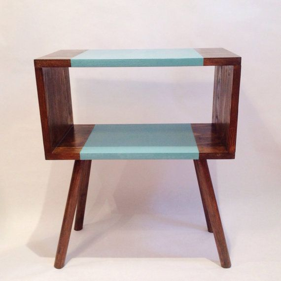 Wooden nightstand Retro Bedside Table by VintageHouseCoruna